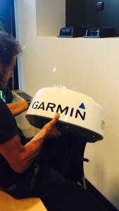 Gaetano con la tecnologia Garmin